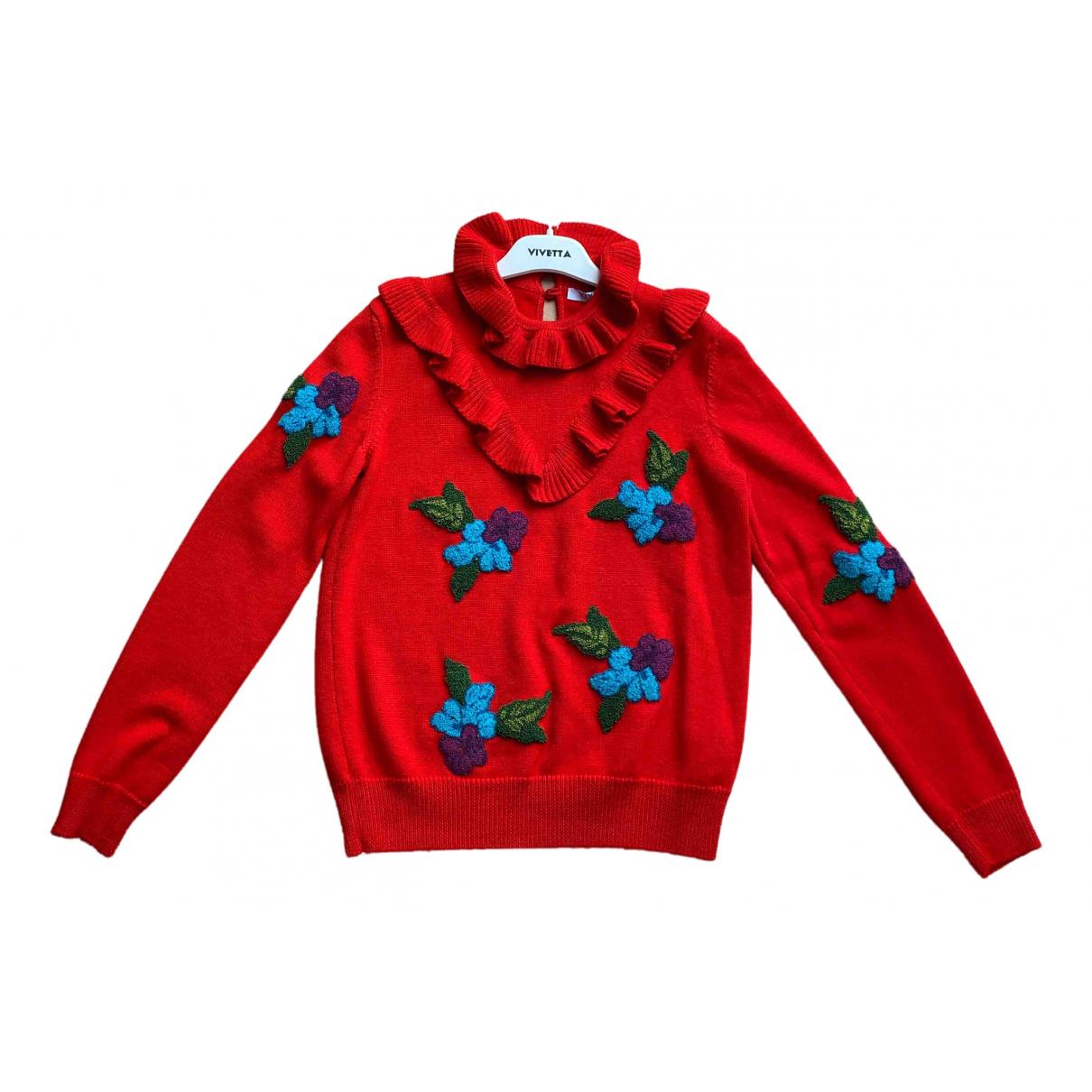 Vivetta - Pull   pour femme en laine - rouge