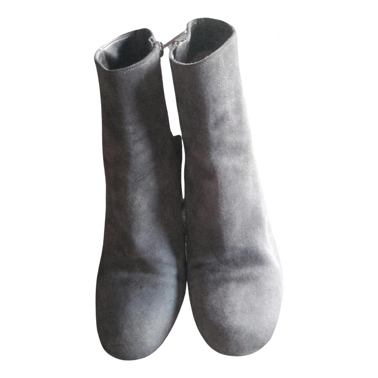 Gianvito Rossi - Boots   pour femme en suede - gris