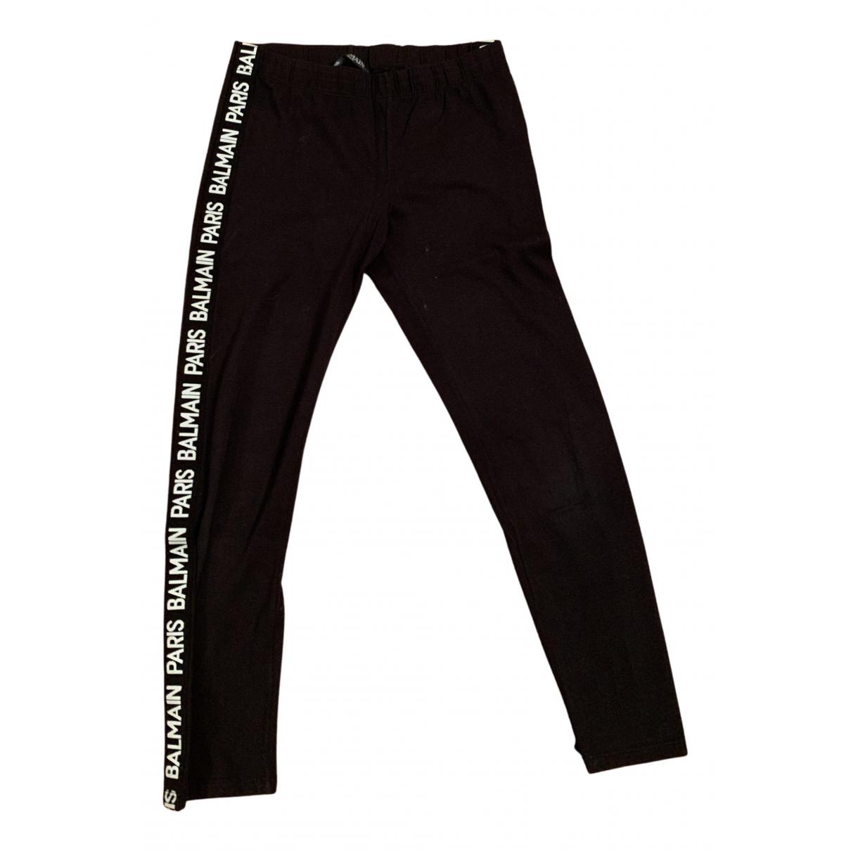 Balmain N Black Cotton Trousers for Kids 12 years - XS FR