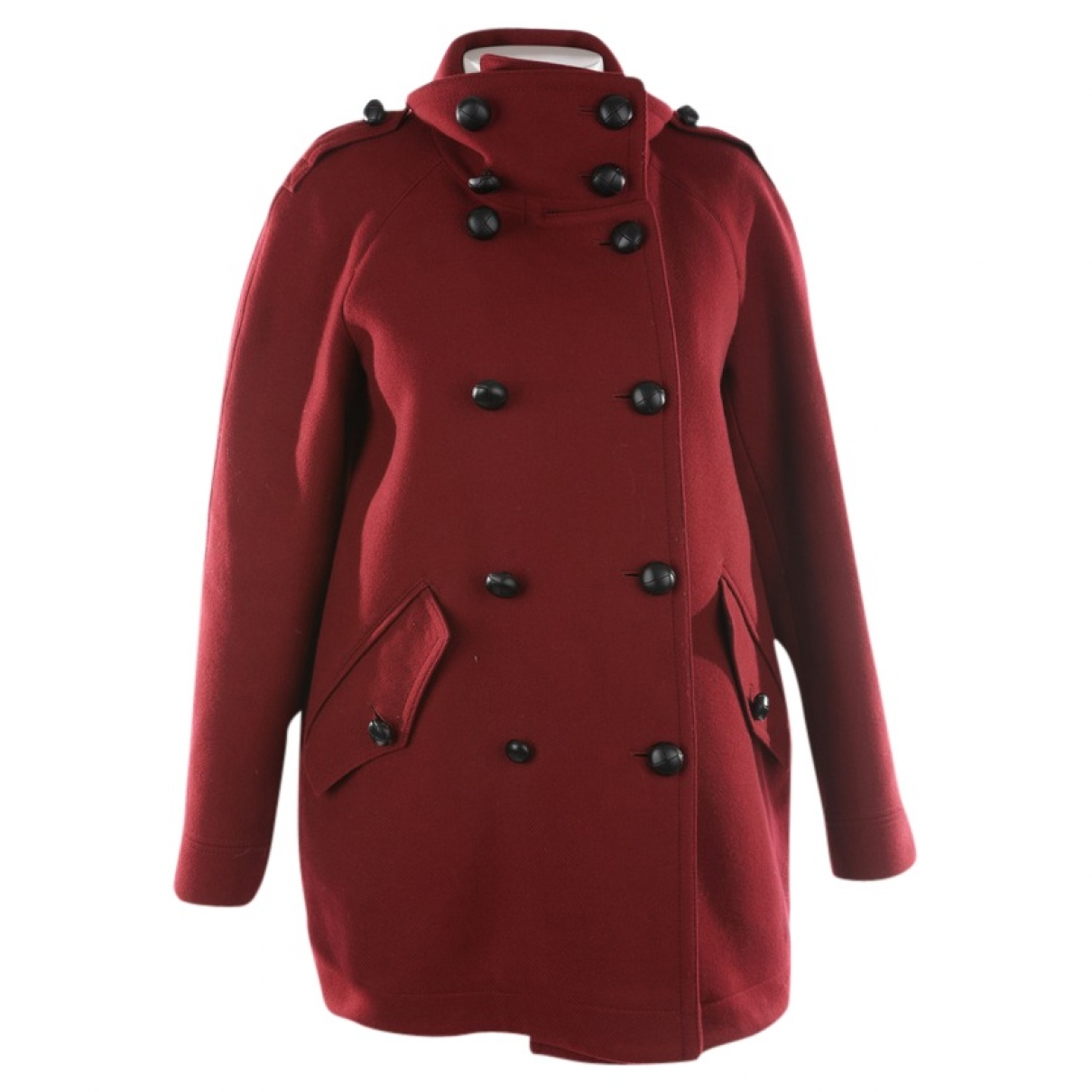 Burberry \N Red Wool coat for Women 44 FR