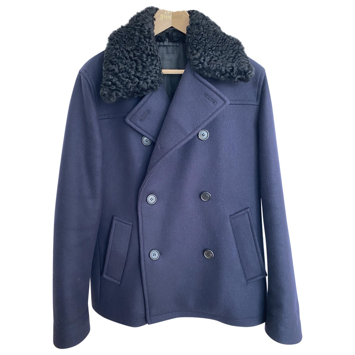 Prada - Manteau   pour homme en coton - bleu