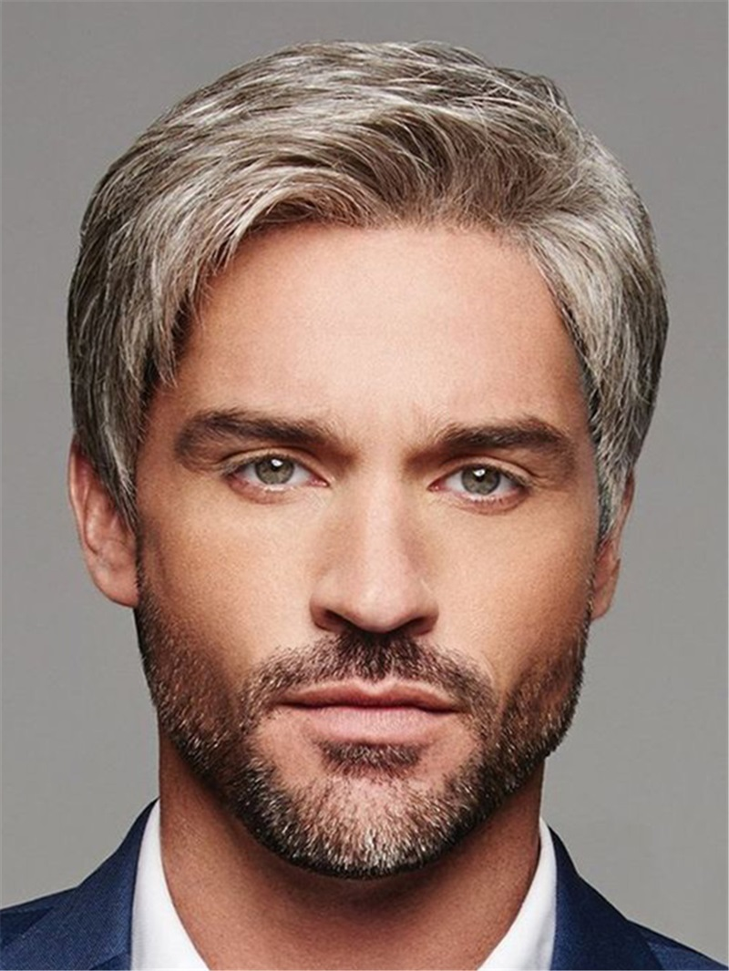 Ericdress Short Cut Synthetic Straight Hair Men's Lace Front Wig