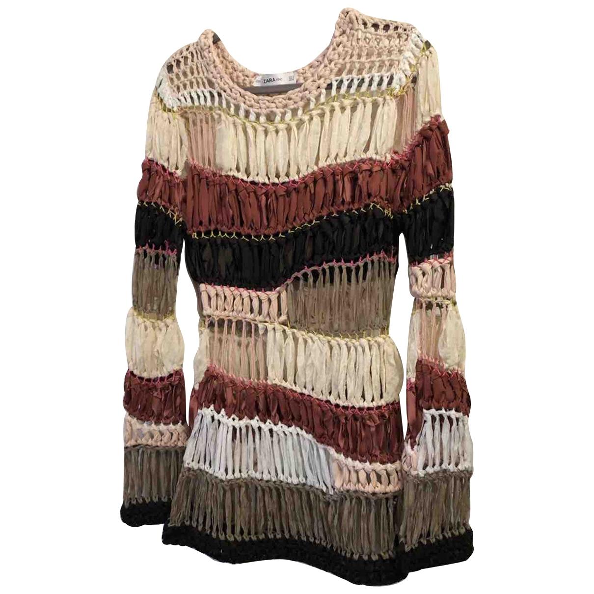 Zara - Pull   pour femme - multicolore