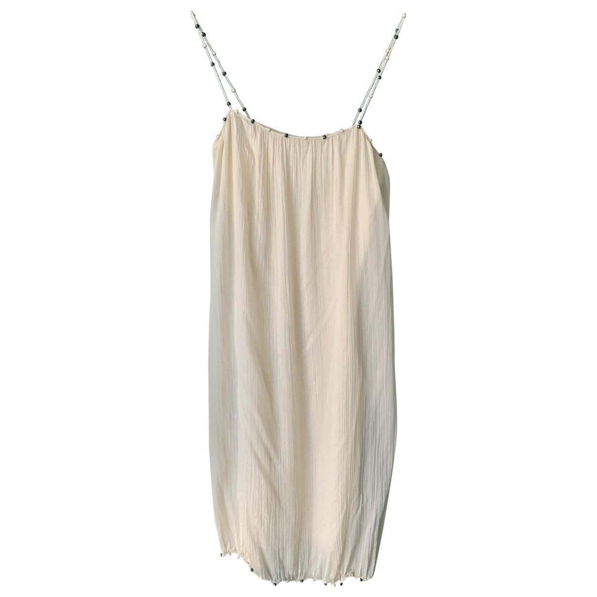 Dior \N White Silk dress for Women 36 FR