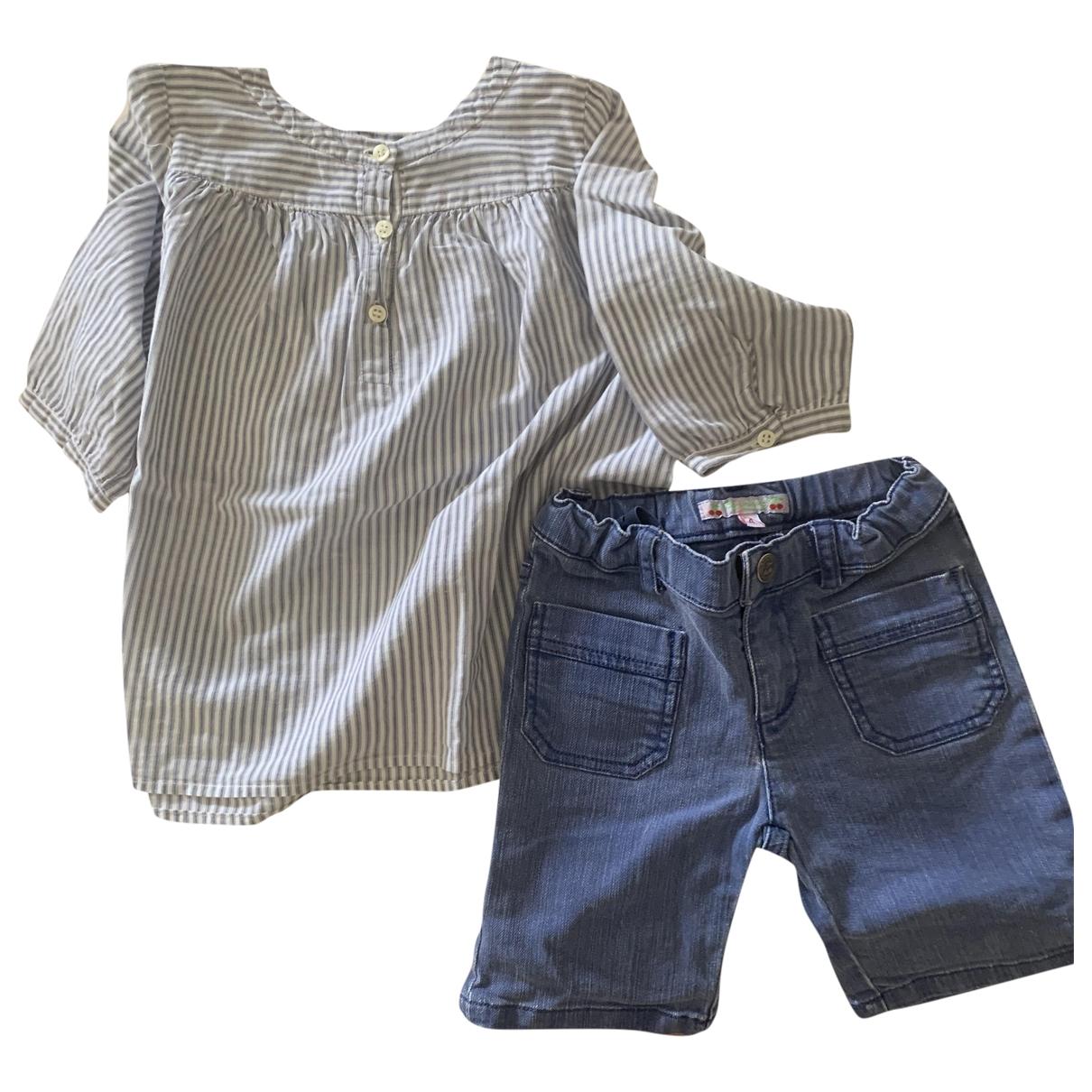Bonpoint - Les ensembles   pour enfant en coton - bleu