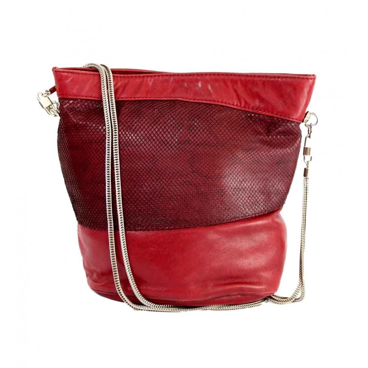 Gianni Versace - Sac a dos   pour femme en cuir - rouge