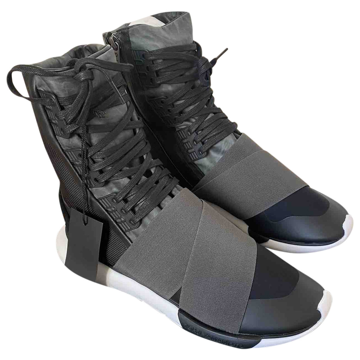 Y-3 \N Black Cloth Trainers for Men 9 UK