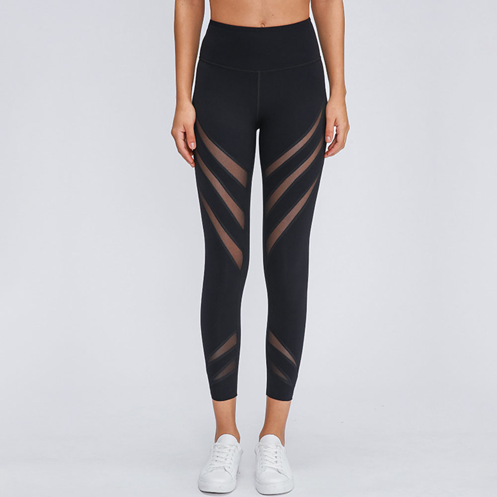 Women's Yoga Capris Running Pants Workout Leggings Breathable Sweat-absorbent and Quick-drying