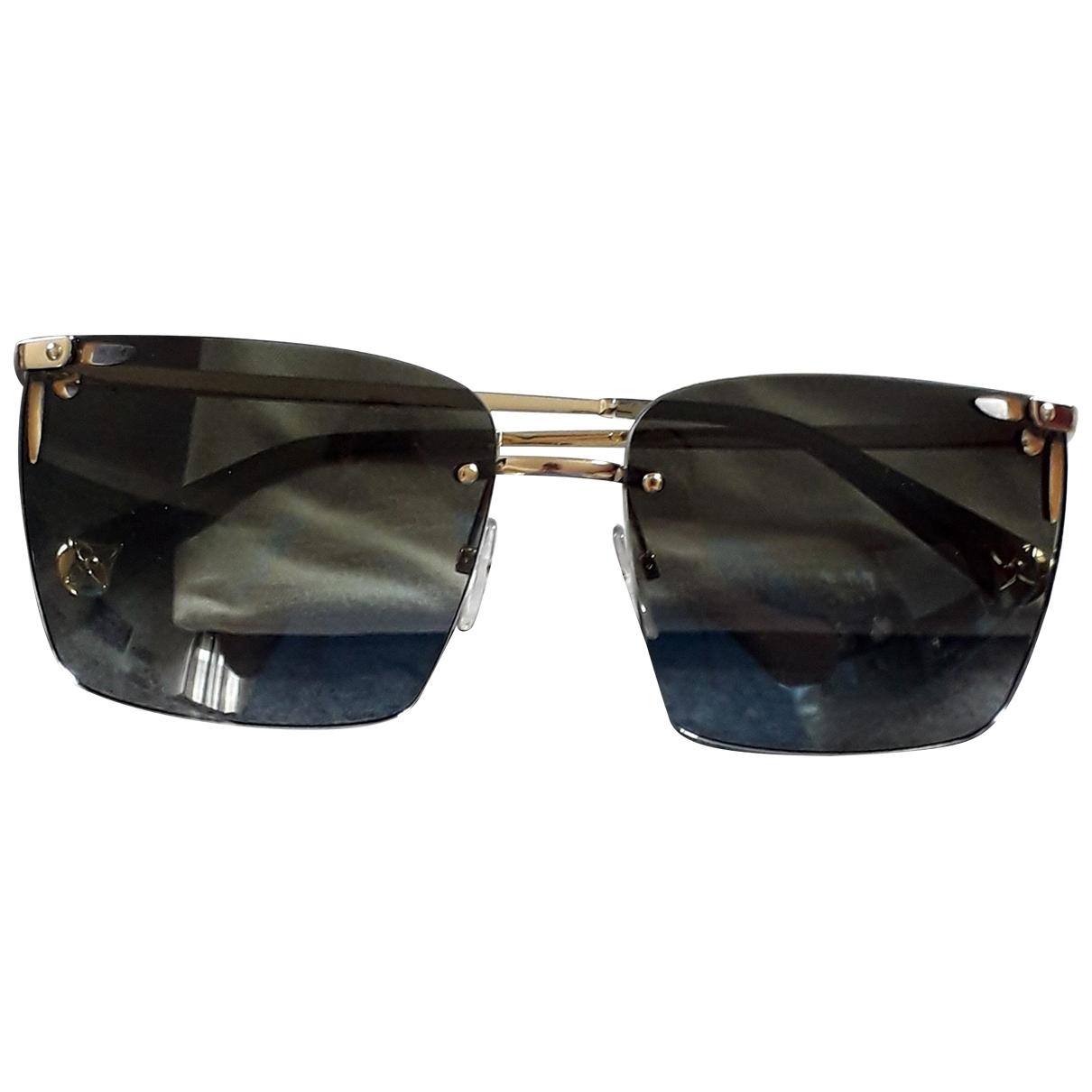 Louis Vuitton \N Sonnenbrillen in  Khaki Metall