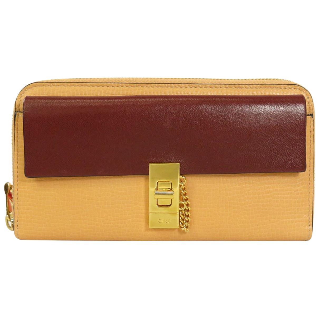 Chloé Drew Beige Leather wallet for Women \N