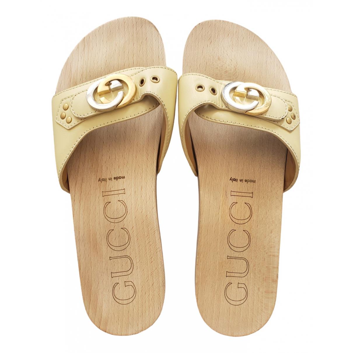 Gucci - Sandales Web pour homme en cuir - beige