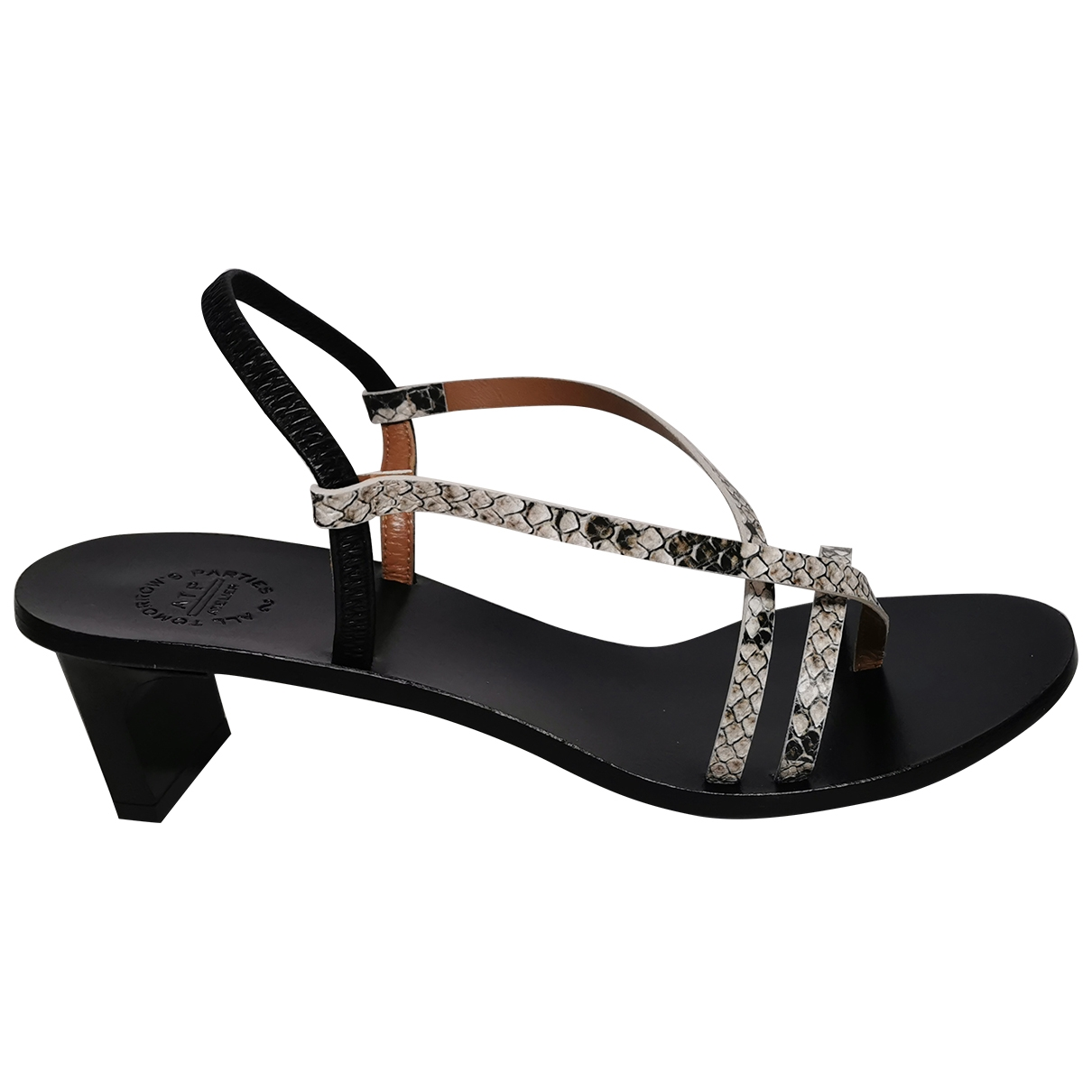 Atp Atelier \N Grey Leather Sandals for Women 40 EU
