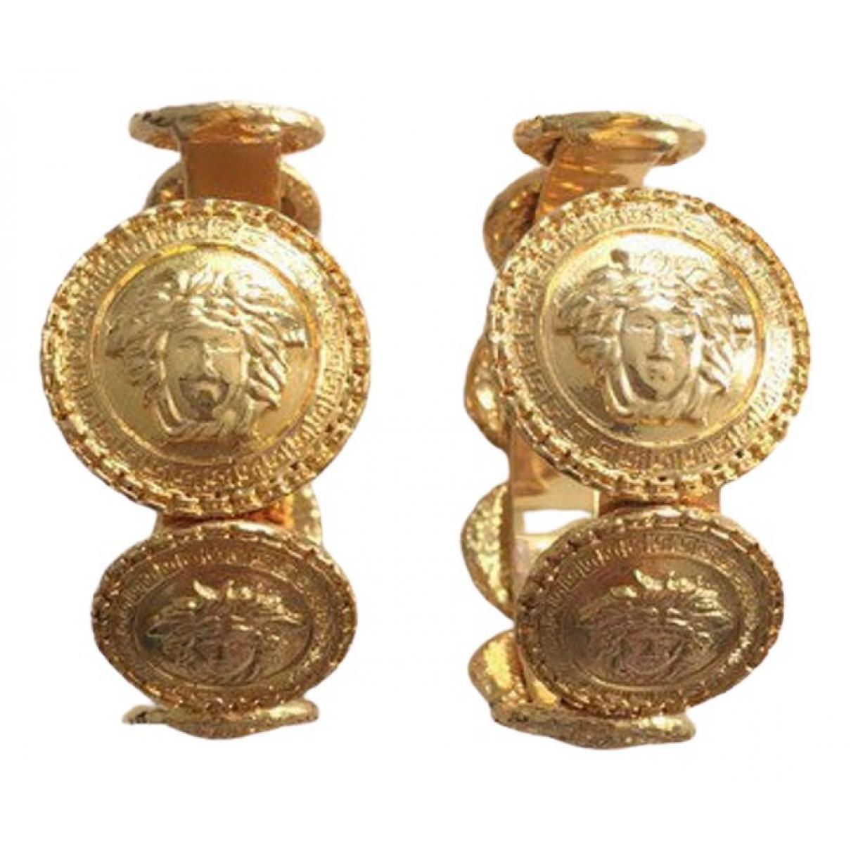 Gianni Versace - Boucles doreilles   pour femme en metal - dore