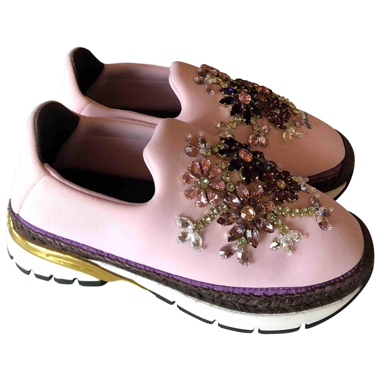 Dolce & Gabbana \N Pink Cloth Trainers for Women 36 EU