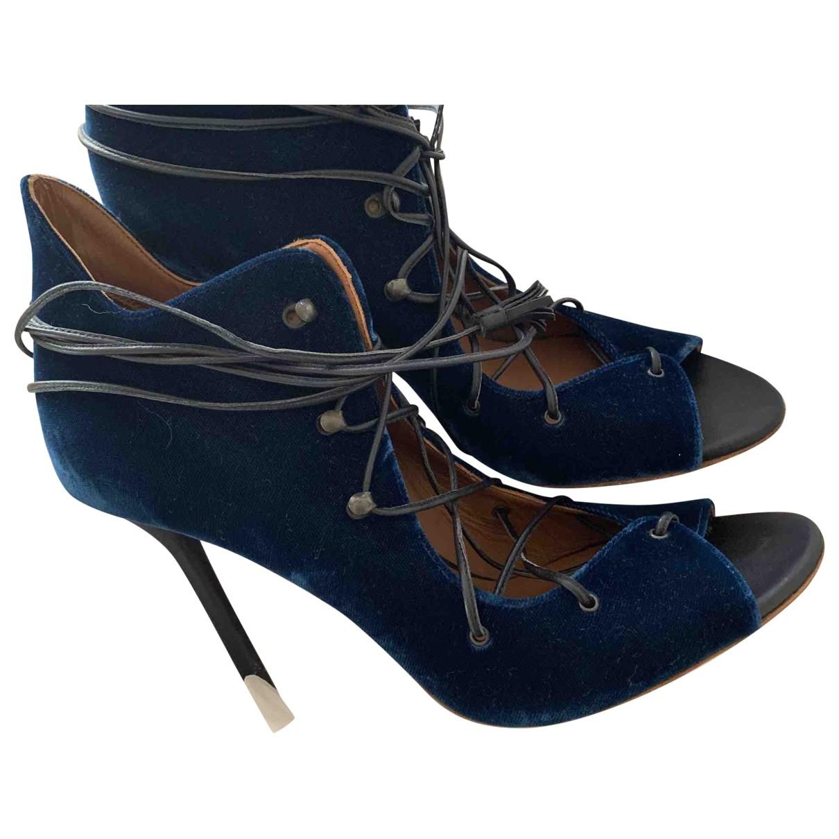Malone Souliers - Sandales   pour femme en velours - bleu