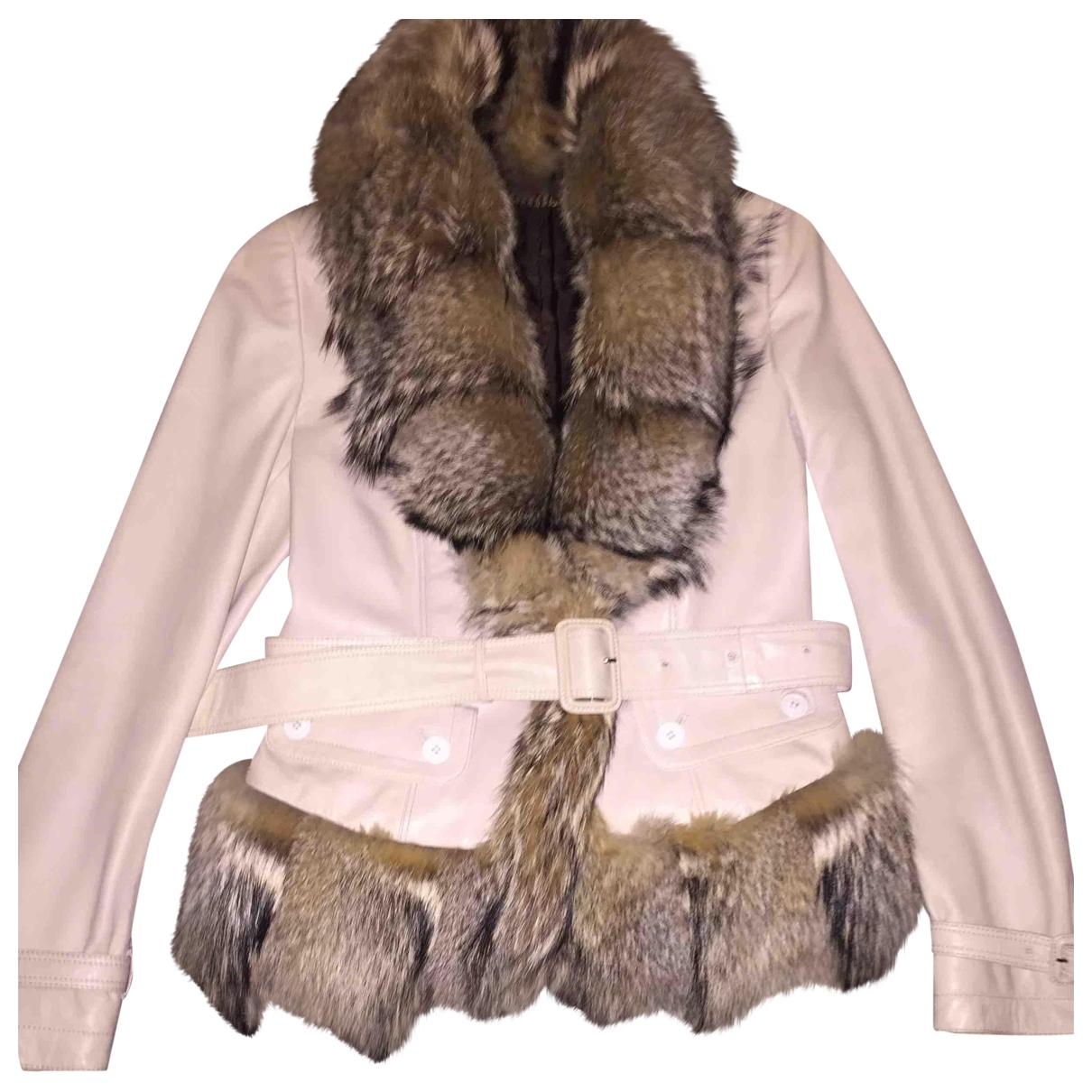 Burberry \N Beige Fur jacket for Women 42 IT