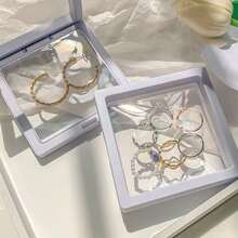 1pc Clear Jewelry Storage Box