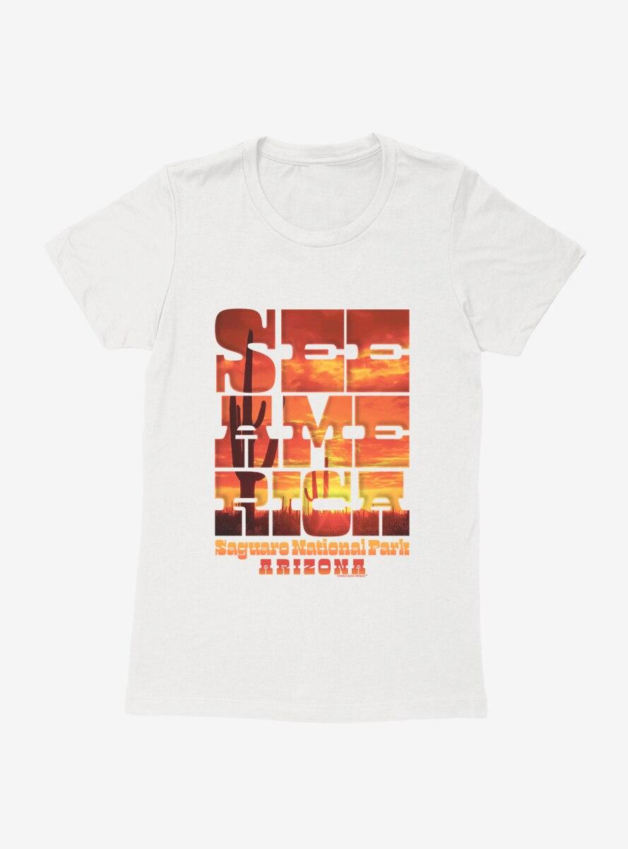 See America Saguaro National Park Womens T-Shirt
