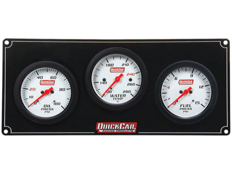 Quickcar Racing Products 3 Gauge Extreme Panel OP/WT/FP