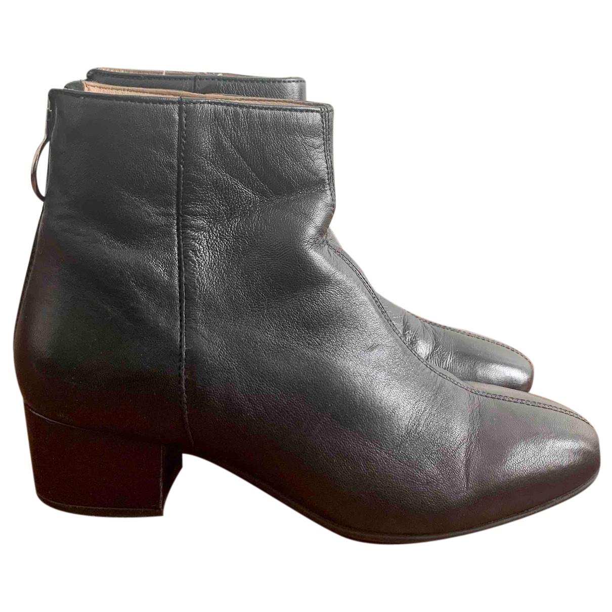 H&m Studio - Boots   pour femme en cuir - noir