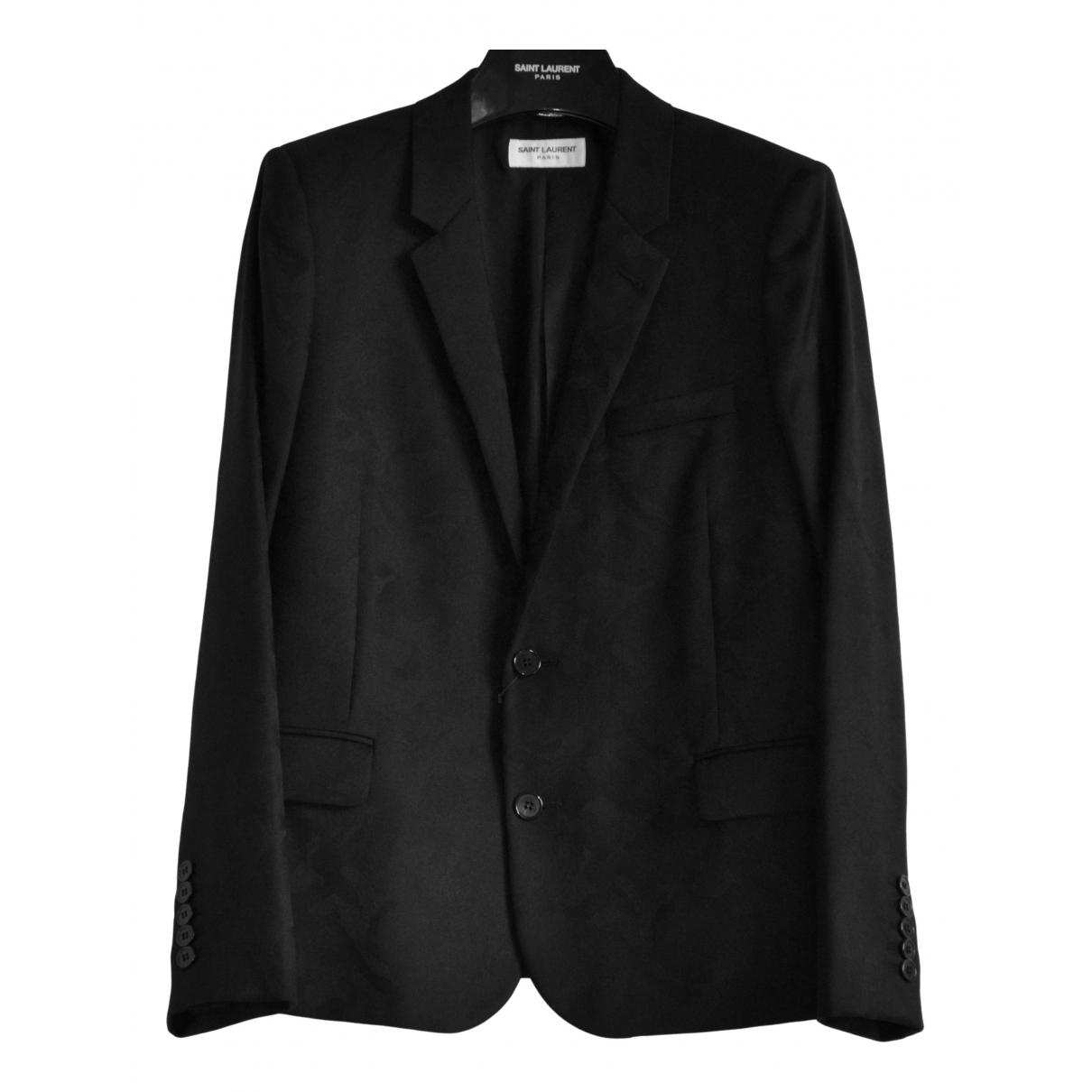 Saint Laurent \N Black Wool jacket for Women 42 FR