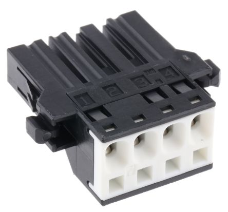 JST , J300 Female Connector Housing, 5.08mm Pitch, 4 Way, 1 Row