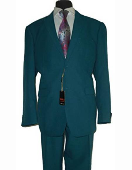 Men's Jewel Tone Two Button Stylish Fit 2 Piece 1 Polyester Dark Suit