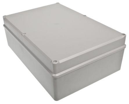 RS PRO Light Grey ABS Enclosure, IK09, IP67, Shielded, 283 x 193.2 x 96.7mm