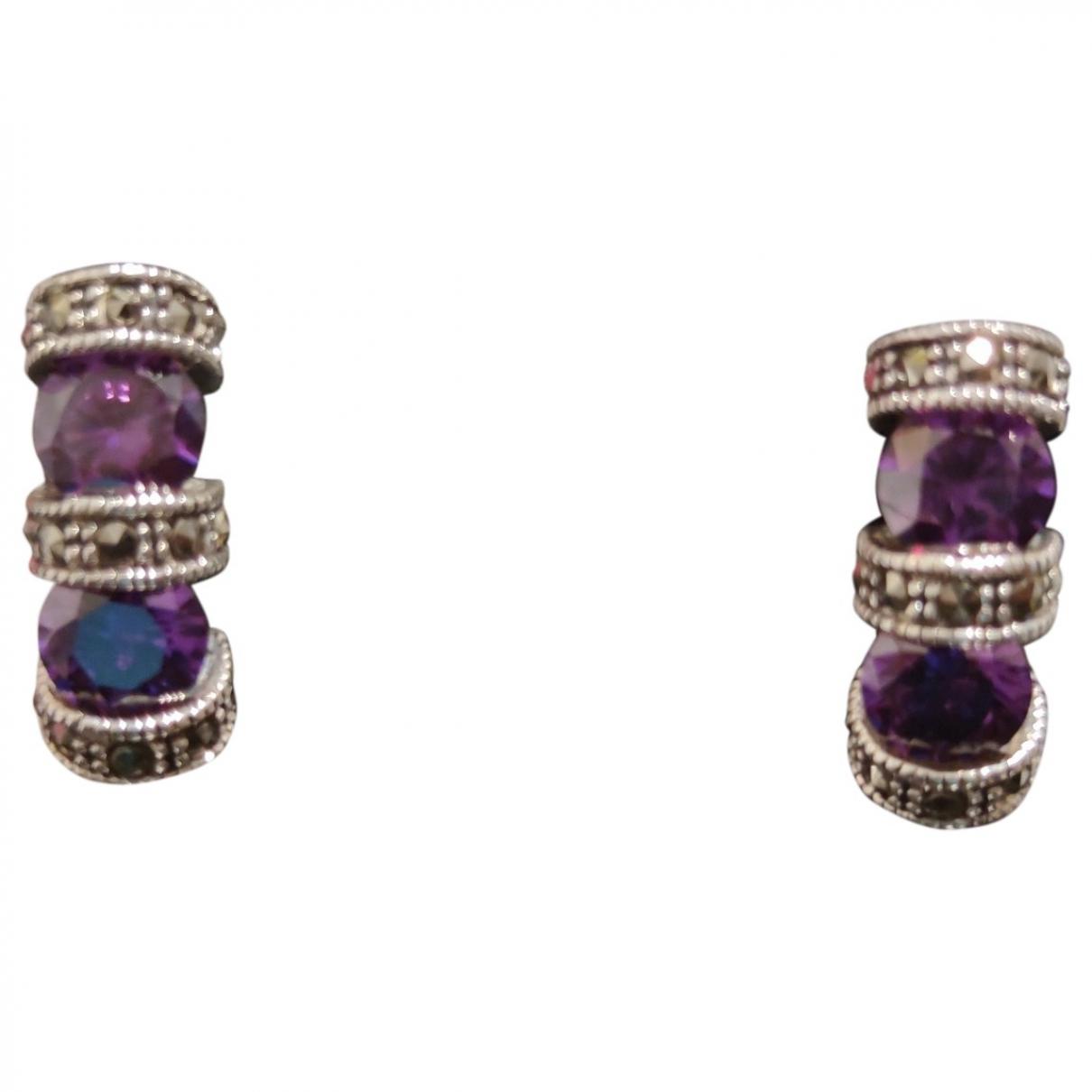 - Boucles doreilles Amethyste pour femme en argent - violet