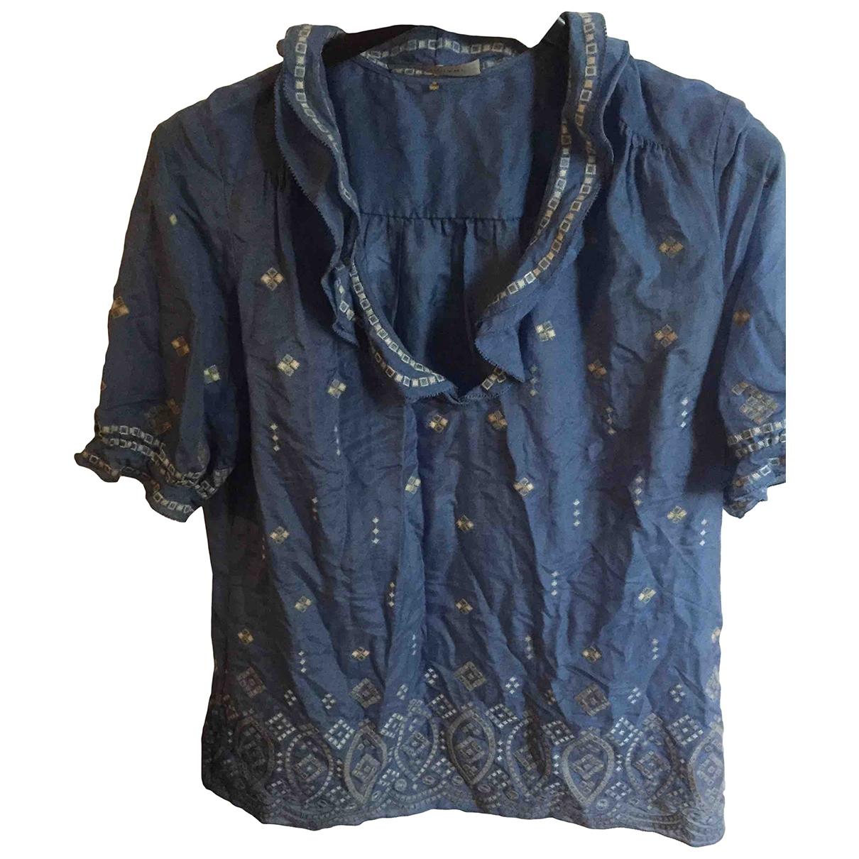 Elie Tahari \N Blue Cotton  top for Women 38 FR