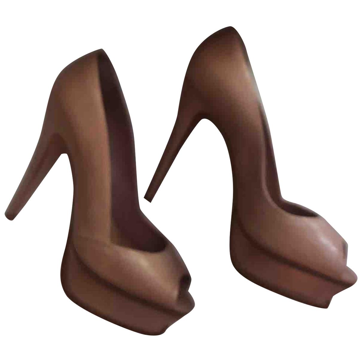 Schutz - Escarpins   pour femme en cuir - beige