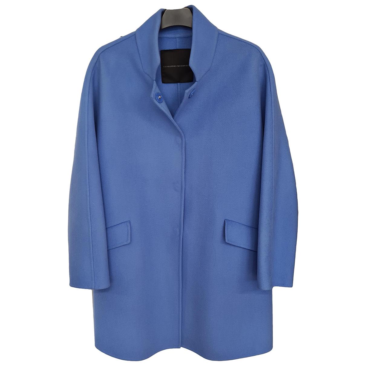 Ermanno Scervino \N Maentel in  Blau Wolle