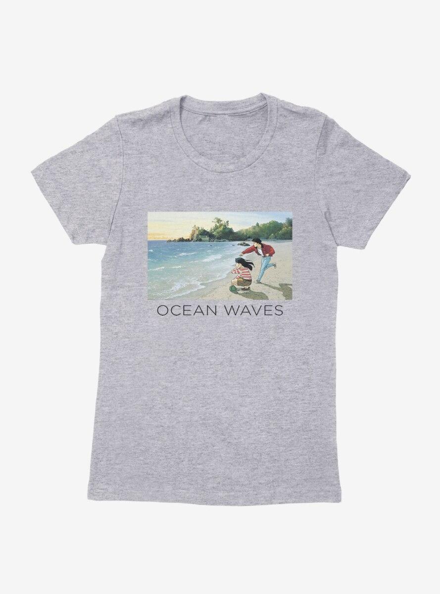 Studio Ghibli Ocean Waves Womens T-Shirt