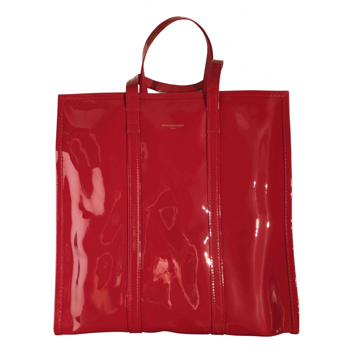 Balenciaga Bazar Bag Red Leather handbag for Women N