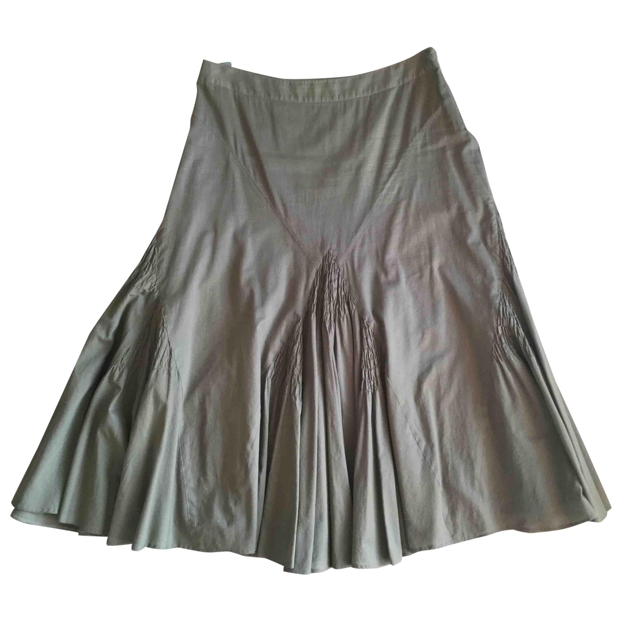 Non Signé / Unsigned \N Green Cotton skirt for Women 48 IT