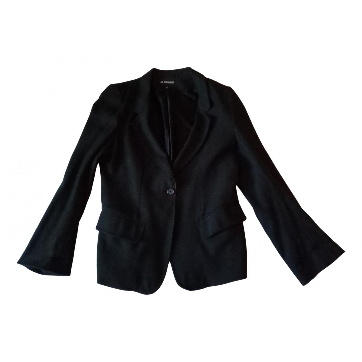 Ann Demeulemeester \N Black Wool jacket for Women 42 FR