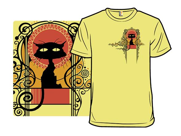 Chat Nouveau T Shirt