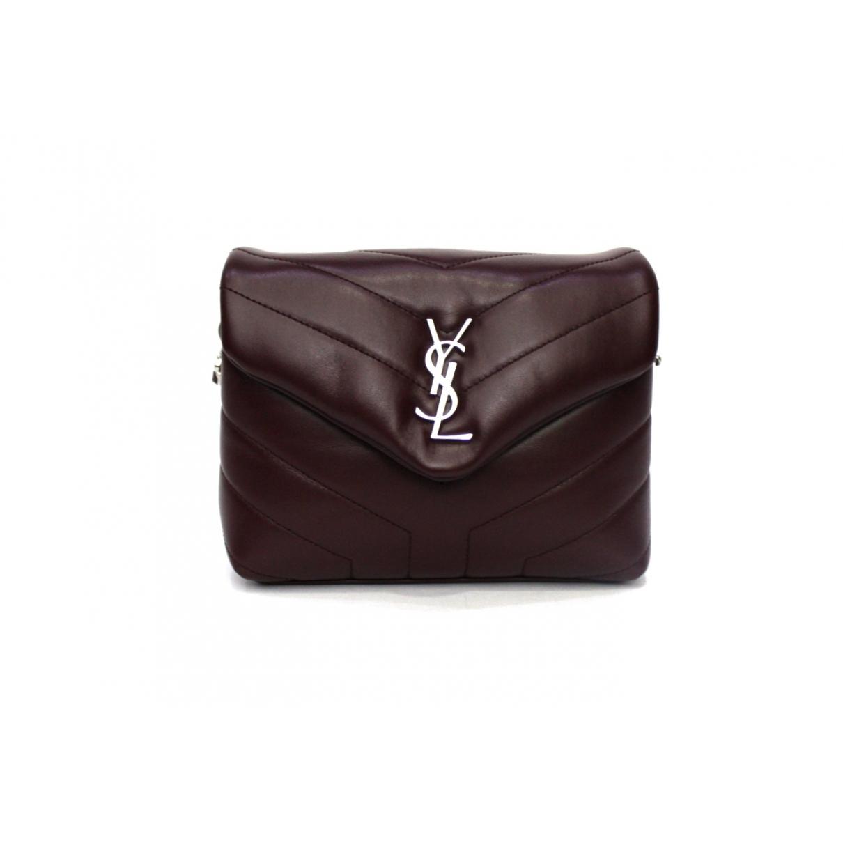 Saint Laurent Loulou Burgundy Leather handbag for Women \N