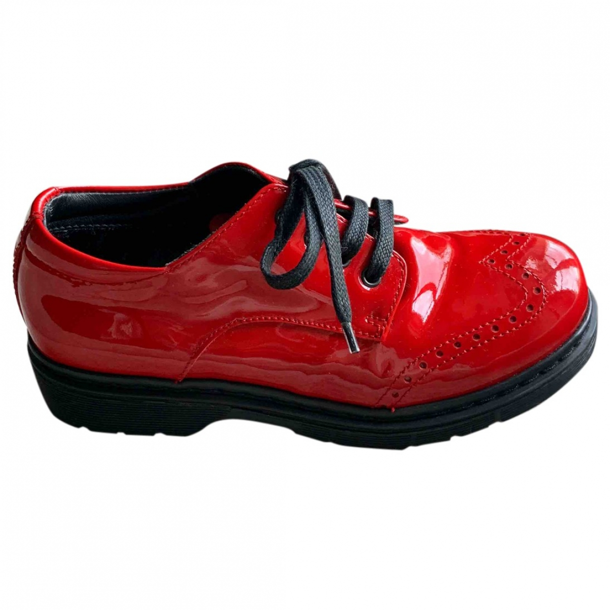 Dolce & Gabbana \N Red Leather Lace up boots for Kids 31 EU