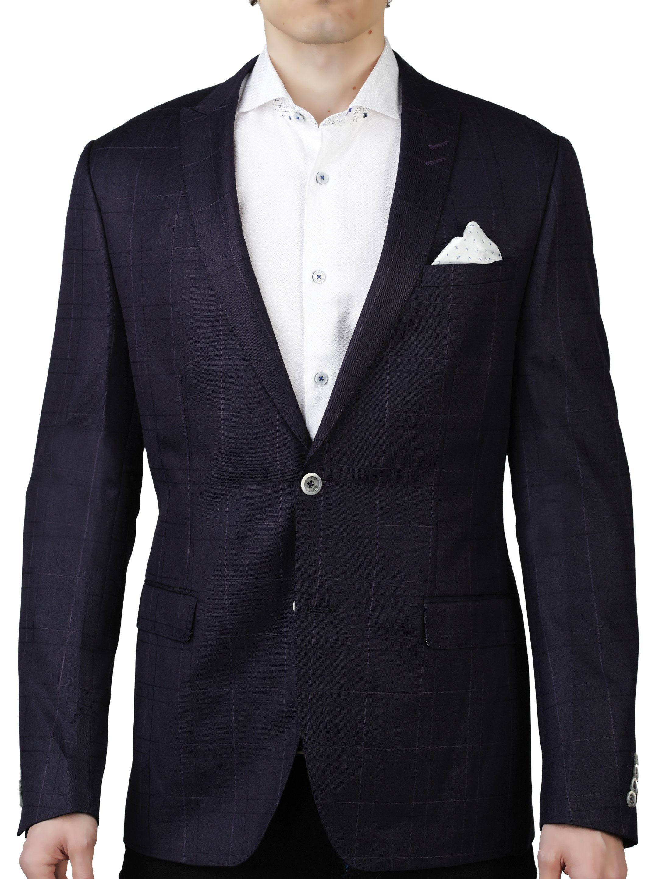 Blazer Descartes Plaid Navy