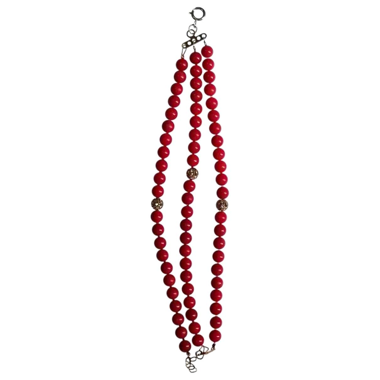 - Bracelet   pour femme en perles - rouge