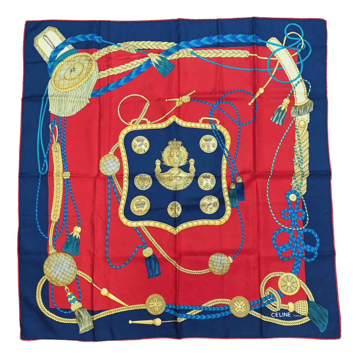Celine N Navy Silk Silk handkerchief for Women N