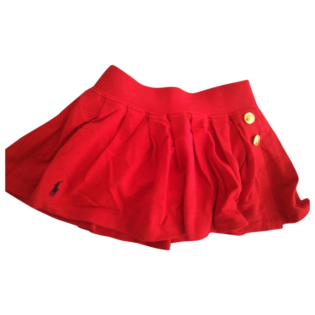 Ralph Lauren - Jupe   pour enfant en coton - rouge