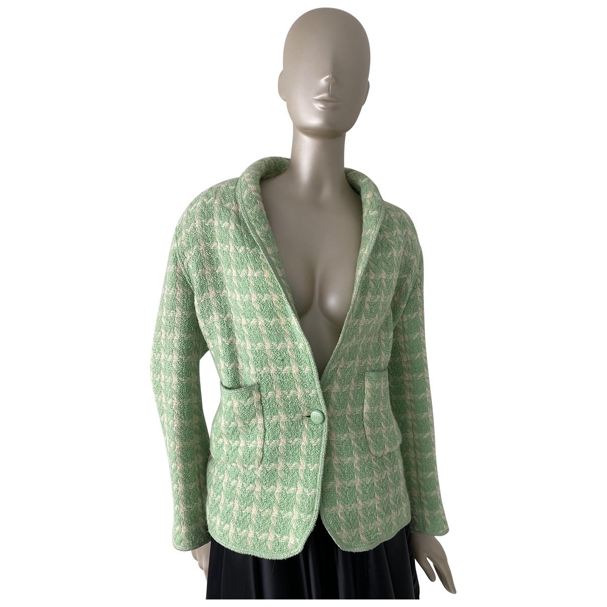 Chanel \N Jacke in  Gruen Wolle