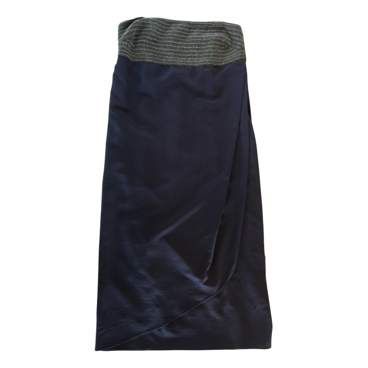 Brunello Cucinelli \N Kleid in  Blau Seide