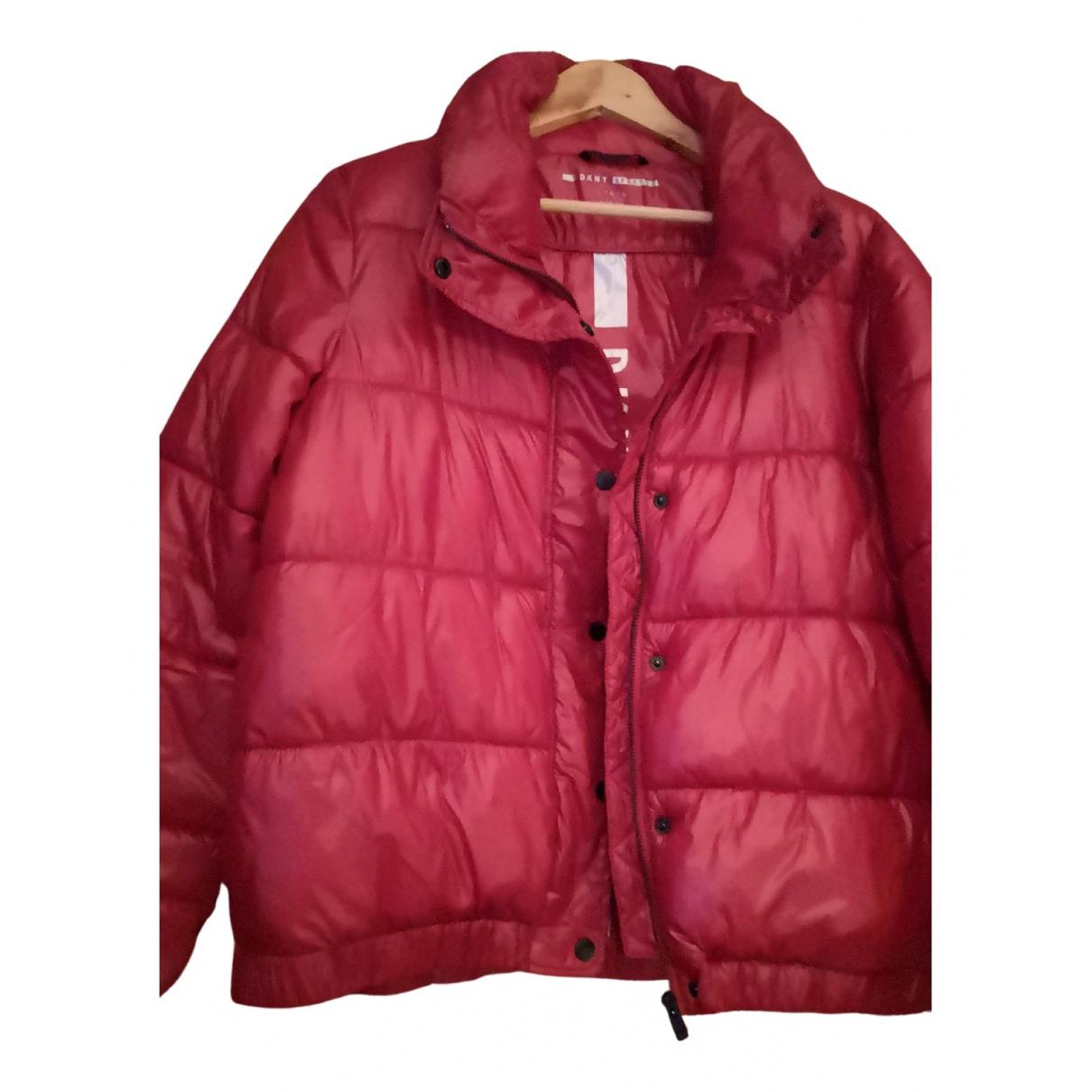 Dkny \N Lederjacke in  Rot Polyester