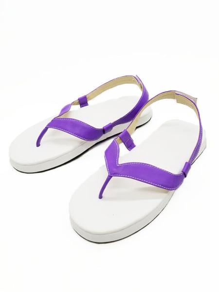 Milanoo Demon Slayer: Kimetsu No Yaiba Cosplay Footwear Kochou Shinobu Purple Cosplay Sandal