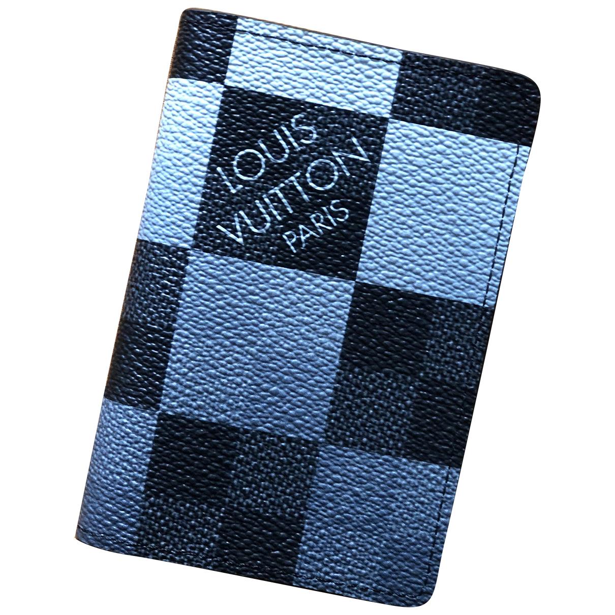 Louis Vuitton Pocket Organizer Kleinlederwaren in  Grau Leinen