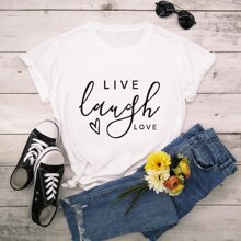 Letter Heart Graphic Tee