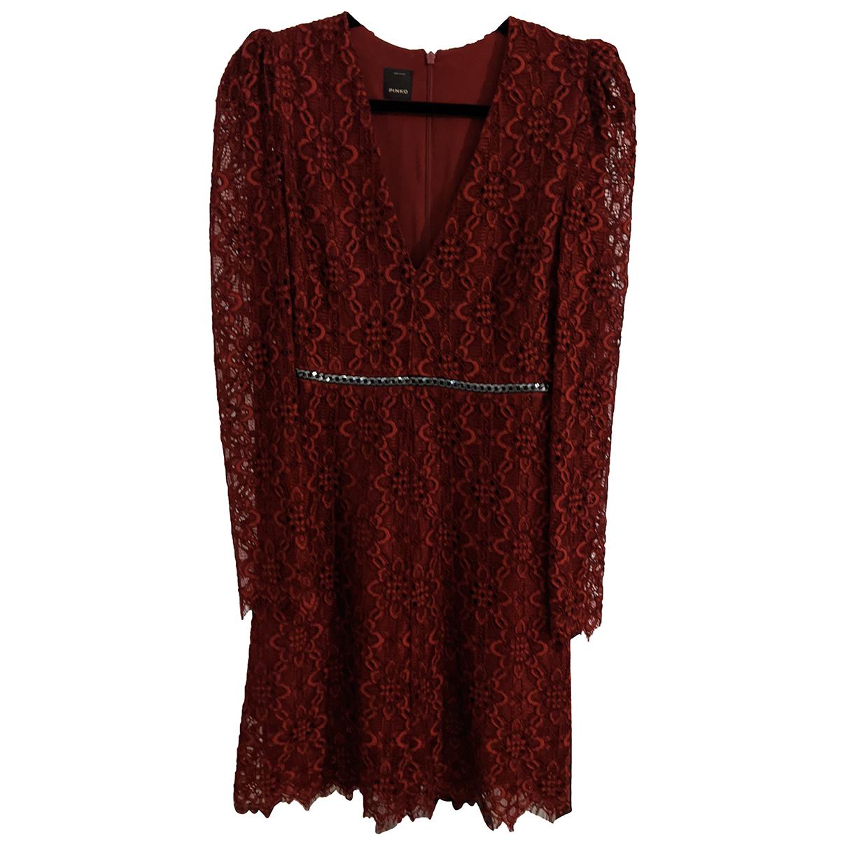 Pinko N Burgundy Cotton dress for Women 38 IT